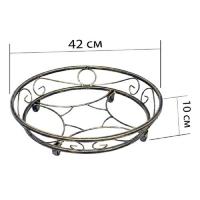 Подставка на роликах круглая 2 (1 шт/упак)