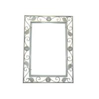 Кованая оправа для зеркала №1 белая (1 шт/упак)