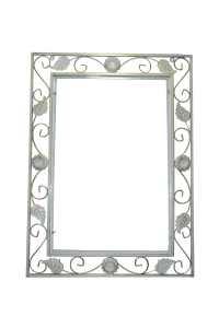 Кованая оправа для зеркала №2 белая (1 шт/упак) оптом