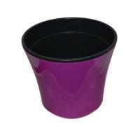 Горшок для цветов Сатини 6 фиолет/черный