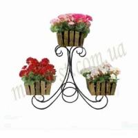Подставка под цветы сани 3 КАНТРИ
