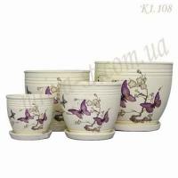 Набор керамических горшков К1.108