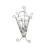 Кованая подставка для зонтов 2 белая (1 шт/упак) оптом