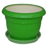 горшок для цветов ботаник шелк зеленый