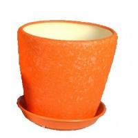 горшок для цветов грация №2 шелк оранж