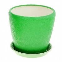 горшок для цветов грация №2 шелк зеленый