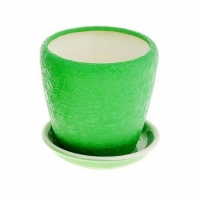 горшок для цветов грация №4 шелк зеленый
