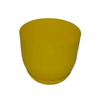 горшок для цветов класик с подставкой 16 желтый