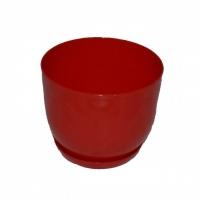 горшок для цветов класик с подставкой 16 красный