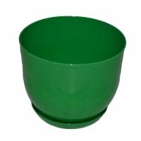 горшок для цветов класик с подставкой 19 зеленый