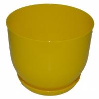 горшок для цветов класик с подставкой 22 желтый