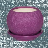 горшок для цветов шар 0,4л шелк фуксия