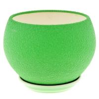 горшок для цветов шар 4,1л шелк зеленый