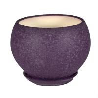 горшок для цветов шар 9л шелк фиолет