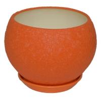 горшок для цветов шар 9л шелк оранж
