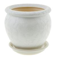горшок для цветов вьетнам №4 шелк белый