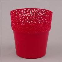 Пластмассовый горшок РОССА красный 13 (10 шт/упаковка)