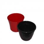 Горшок для цветов Сатини 2 бордово/черный