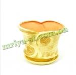Горшок для цветов Наполі з ліпкою (1 шт/упак) оптом