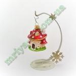Новогодняя игрушка Домик-грибочек  (5 шт/упак.) оптом