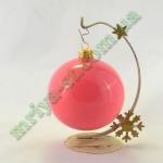 Новогодняя игрушка Шар d100 ГЛ.розов.  (5 шт/упак.) оптом