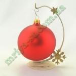 Новогодняя игрушка Шар d100 МАТ.крас.  (5 шт/упак.) оптом