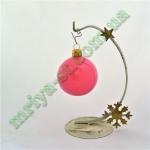 Новогодняя игрушка Шар d60 ГЛ.розов.  (5 шт/упак.) оптом