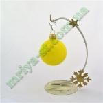 Новогодняя игрушка Шар d60 ГЛ.желт.  (5 шт/упак.) оптом
