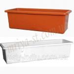 Балконный ящик Рот 40 белый (10 шт/упак) оптом