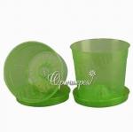 Горшок для орхидей  Л15 зеленый (15 шт/упак) оптом