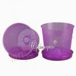 Горшок для орхидей  Л15 фиолетовый (15 шт/упак)