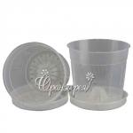Горшок для орхидей  Л15 прозрачный (15 шт/упак)