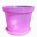Горшок для орхидей с подставкой Д15 розовый (25 шт/упак)