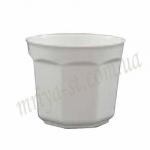 Горшок для цветов Восьмигранный 10 белый (10 шт/упак)