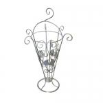 Кованая подставка для зонтов 1 белая (1 шт/упак) оптом