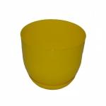 Горшок для цветов Класик с подставкой 16 ЖЕЛТЫЙ (15 шт/упак)