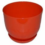 Горшок для цветов Класик с подставкой 22 ОРАНЖ (10 шт/упак)