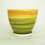 горшок для цветов  р006 конусний горщик (литво)