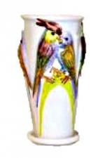 Горшок для цветов  Р008 с папугаями (4 шт/упак)