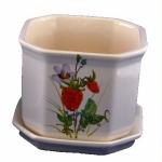 горшок для цветов  р017 восьмигранний