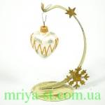 Новогодняя игрушка А 67 сердце маленькое (10 шт/упак)