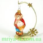 Новогодняя игрушка А 157 Обезьянка с мороженным (10 шт/упак)