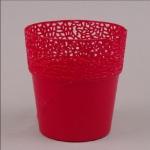 Пластмассовый горшок РОССА красный 14,5 (10 шт/упаковка)