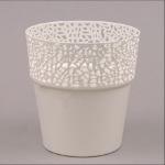 Пластмассовый горшок РОССА кремовый 14,5 (10 шт/упаковка)